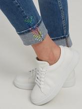 Bild von Jeans im Slim Fit mit Strasssteinen TESS