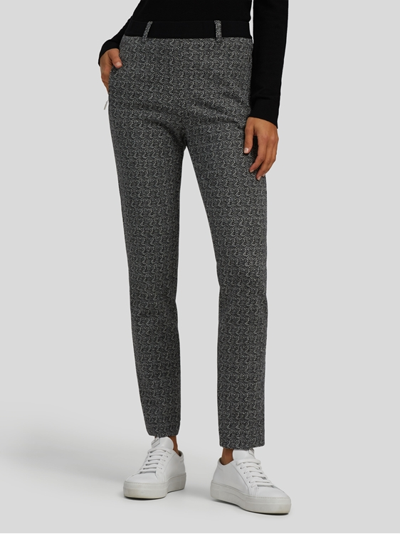Image sur Pantalon jersey avec motif chevron LILLITH
