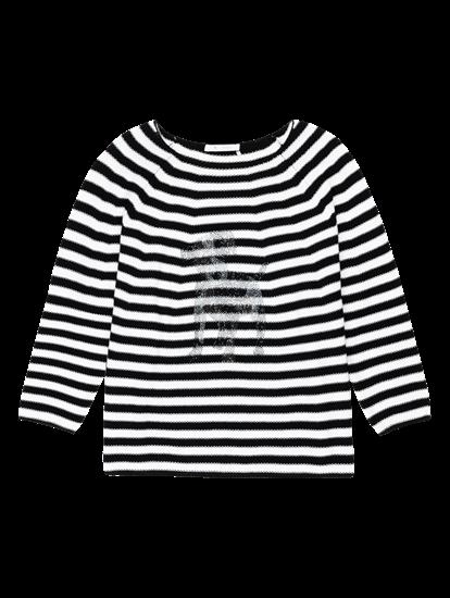 Bild von Pullover mit Streifen und Strasssteinen