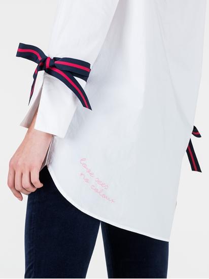 Bild von Oversized Bluse mit Ripsband am Ärmel