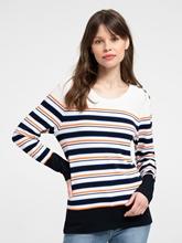 Bild von Pullover mit Streifen und Knöpfen