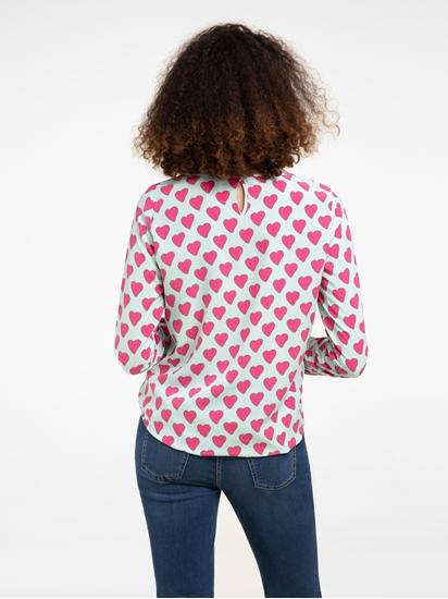 Image sur Blouse oversize avec coeur imprimé