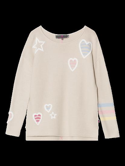Bild von Pullover mit Stickereien und Streifen