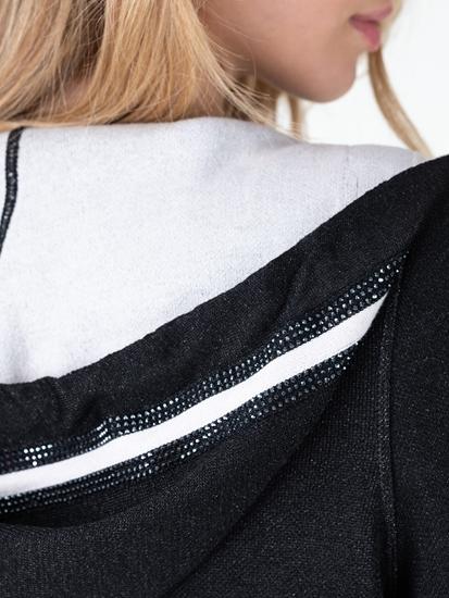 Image sur Veste maille avec lurex et pierres de strass