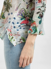 Bild von Pullover aus Leinen mit Blumen-Print