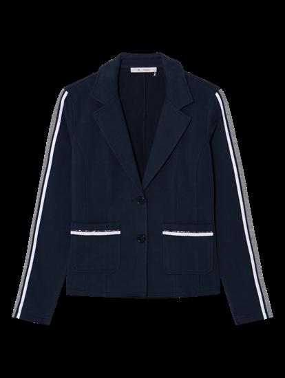 Image sur Blazer jersey pierres de strass et rayures latérales