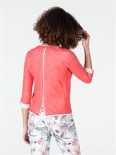 Image sur Pullover maille à rayures et manches froncées LISA