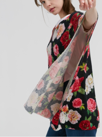Bild von Poncho mit Blumen-Print