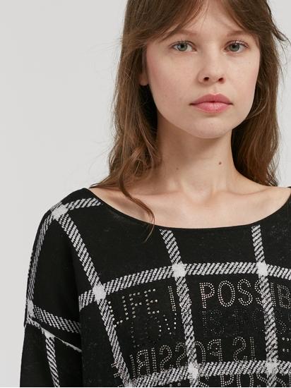 Image sur Pullover motif à carreaux
