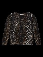 Image sur Pullover imprimé léopard et pierres de strass