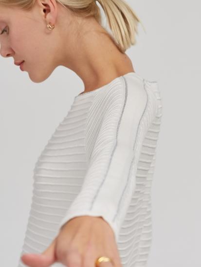 Image sur Pullover texturé avec lurex