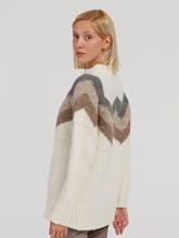 Image sur Pullover maille oversize avec motifs