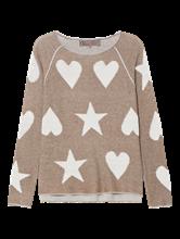 Image sur Pullover avec étoiles et coeurs
