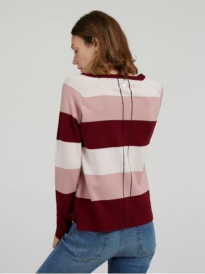 Bild von Pullover mit Streifen und Stickerei