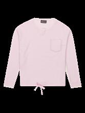 Image sur Pullover maille poche poitrine et cordon de serrage