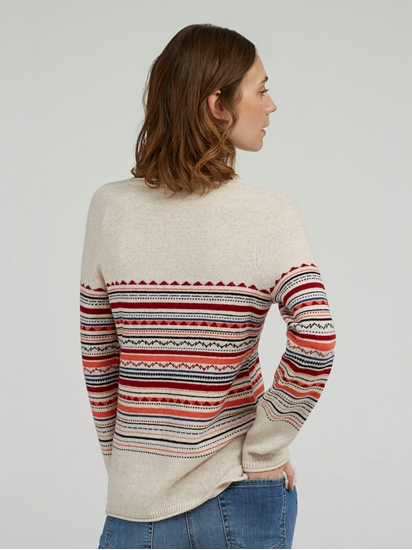 Image sur Pullover motif norvégien EVA