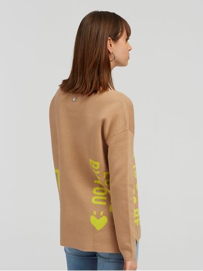 Image sur Pullover oversized avec inscription