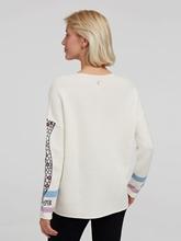 Bild von Oversized Pullover mit Print und Stickerei