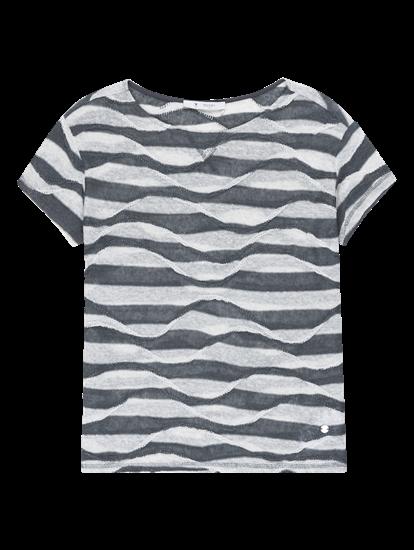 d9f26770387a shop online PKZ.ch. women tshirts shirts T-Shirt mit Streifen Monari ...