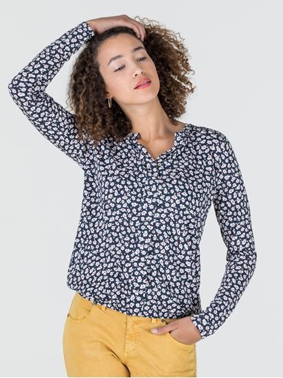 Image sur Shirt imprimé fleurs et taille élastique