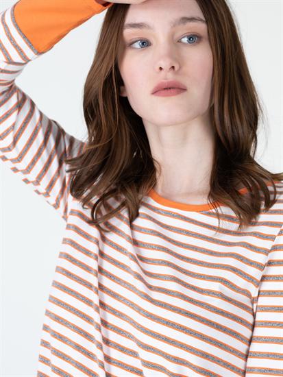 Image sur Shirt mit Lurexstreifen
