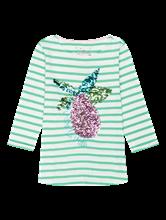 Image sur Shirt fil flammé à rayures et paillettes