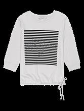 Bild von Shirt mit Print und metallischer Schrift