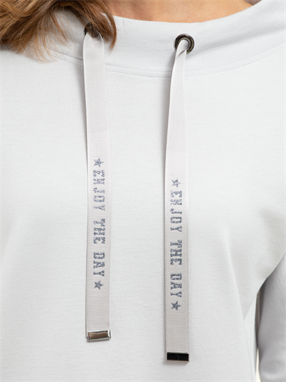 Bild von Sweatshirt mit Tunnelzug und Streifen am Ärmel