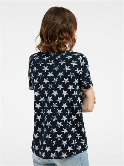 Image sur T-shirt avec imprimé étoiles et poche