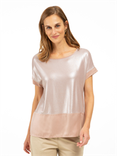 Image sur Shirt oversized mélange de matières et lurex