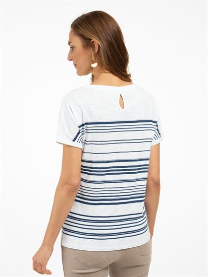 Image sur T-shirt à rayures et paillettes CAELEN