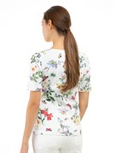 Image sur T-shirt imprimé floral