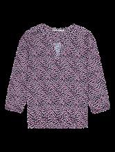 Bild von Shirt mit Print und Gummisaum