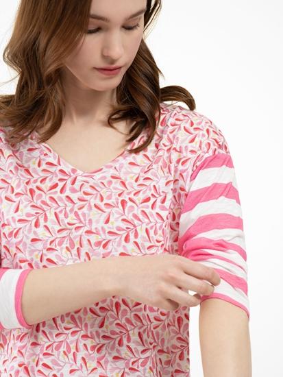 Image sur Shirt avec imprimé et rayures