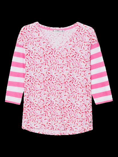 Bild von Shirt mit Print und Streifen