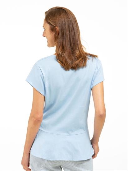 Bild von T-Shirt mit Print und Volant