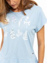 Image sur T-shirt imprimé et volants