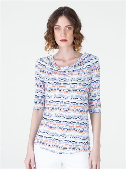 Image sur Shirt fil flammé imprimé