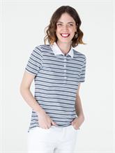 Image sur Polo coton piqué à rayures