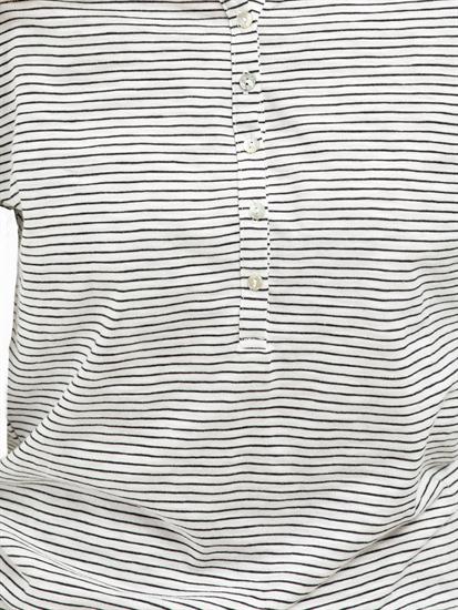 Bild von Blusenshirt aus Flammgarn mit Streifen