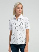 Bild von Polo-Shirt aus Piqué mit Print CLEO