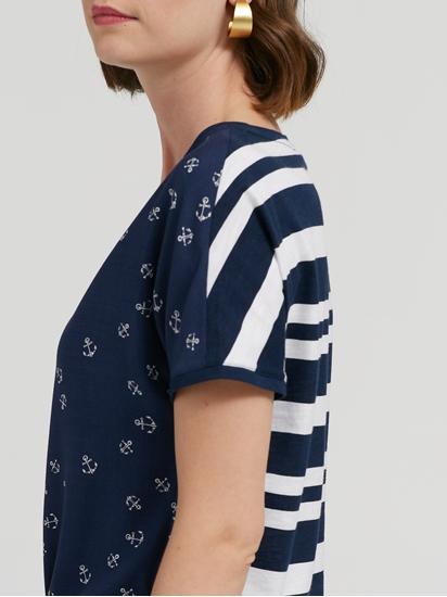 Image sur T-shirt imprimé avec mélange de matières CAELEN
