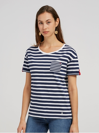 Bild von T-Shirt aus Flammgarn mit Streifen CAMILLE