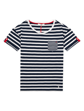 Image sur T-shirt fil flammé à rayures CAMILLE