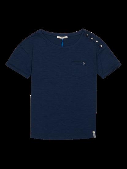 Bild von T-Shirt aus Flammgarn mit Knöpfen CAMILLE