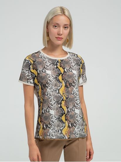Image sur T-Shirt aus Materialmix CAELEN