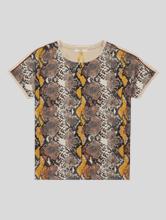 Image sur T-shirt mélange de matières CAELEN
