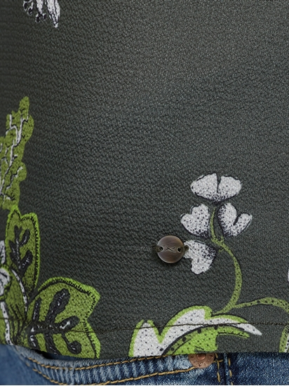 Bild von Blusenshirt aus Material-Mix mit Print