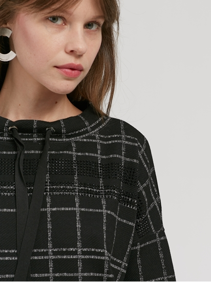 Image sur Sweat motif à carreaux