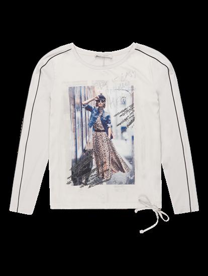 Bild von Shirt aus Material-Mix mit Print